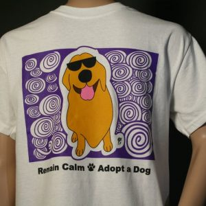 Golden Retriever Remain Calm Adopt A Dog by BinkyandBell.com