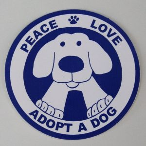 Peace Love Adopt A Dog Christmas Ornament