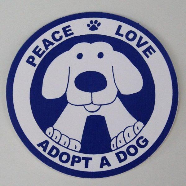 Peace Love Adopt A Dog Christmas Ornament