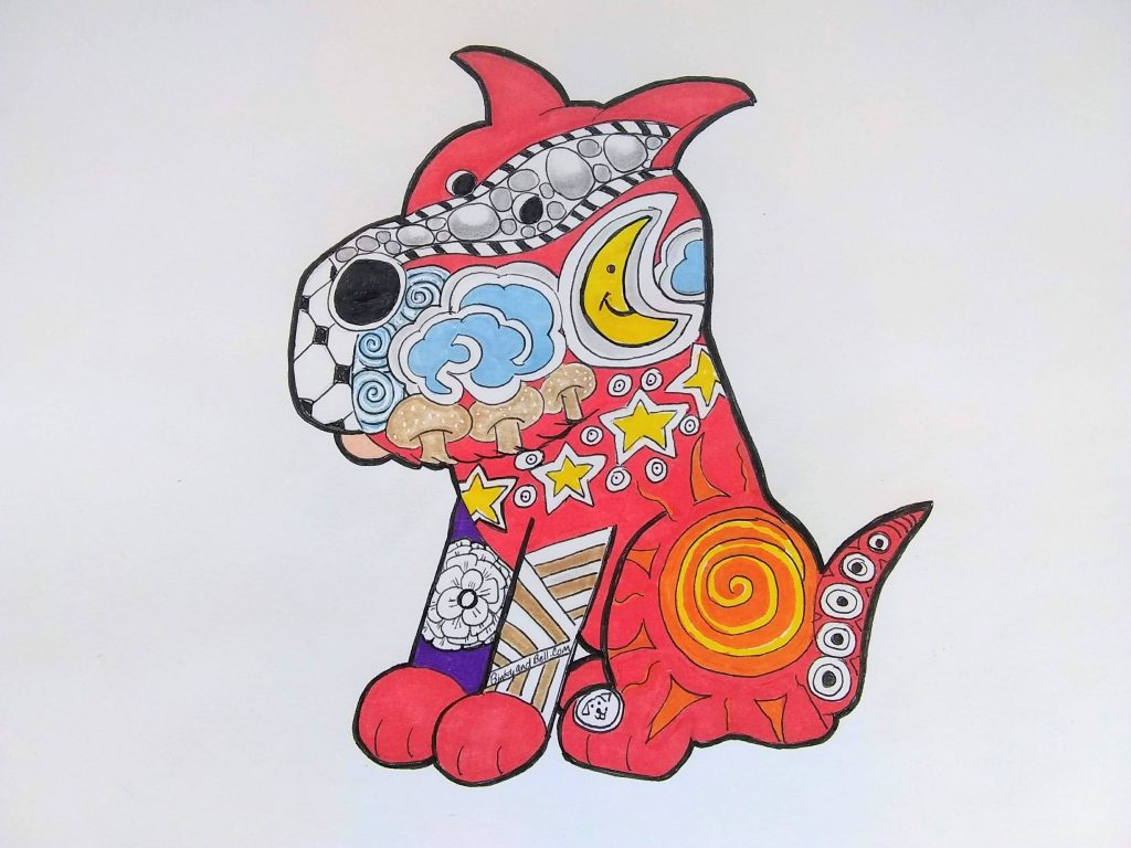Zen Red Dog