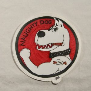 Naughty Dog Sticker