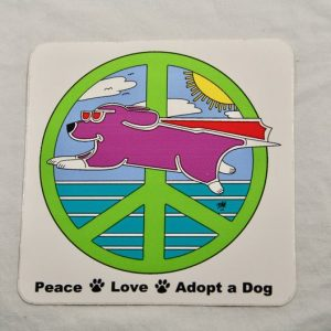 Super Peace Dog Sticker