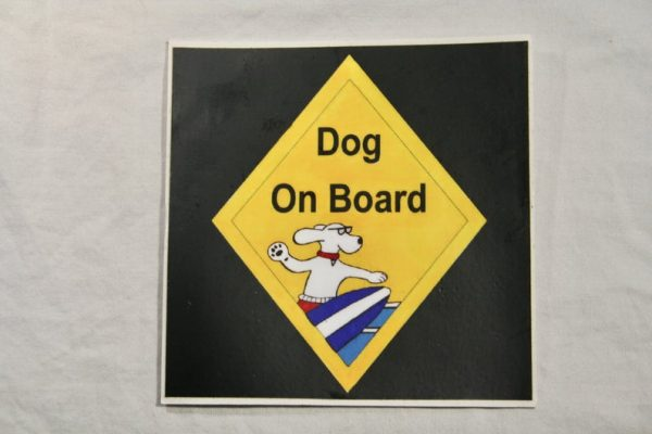 Dog On Board Large Sticker