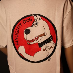 Naughty Dog Back of Shirt