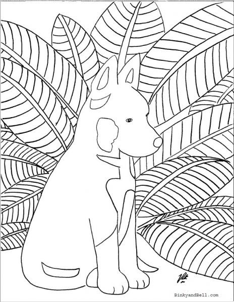 Shepherd Pup Coloring Page