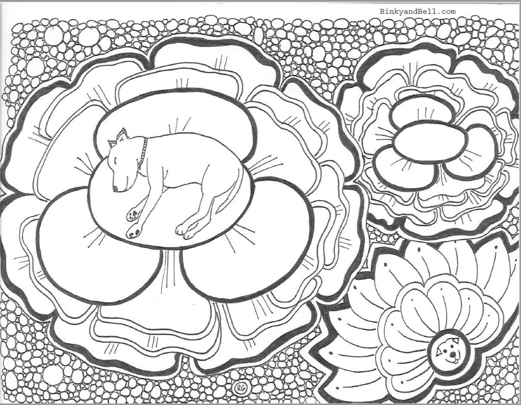 Sleeping Flower Coloring Page