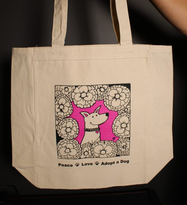 Cleo Dog Art Cotton Tote Bag