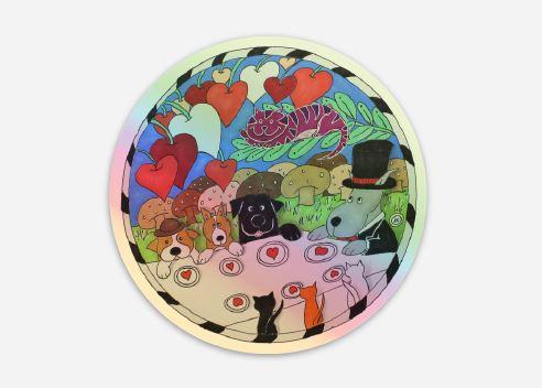 Tea Party Hologram Sticker