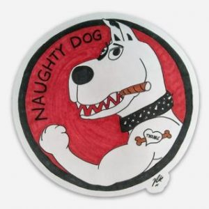 Naughty Dog Magnet