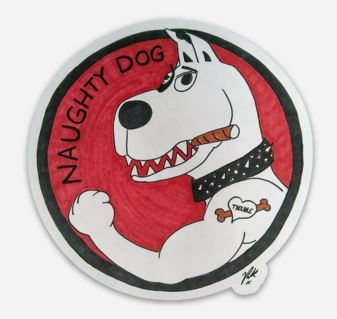 Naughty Dog Magnet
