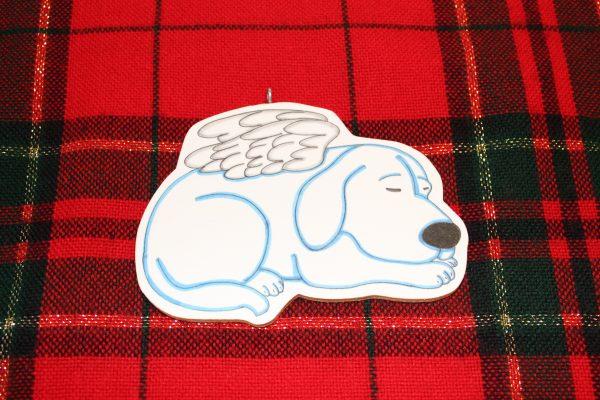 Poe Angel Dog Sleeping Christmas Ornament
