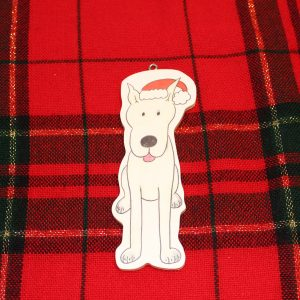 Earl Grey Great Dane Christmas Ornament