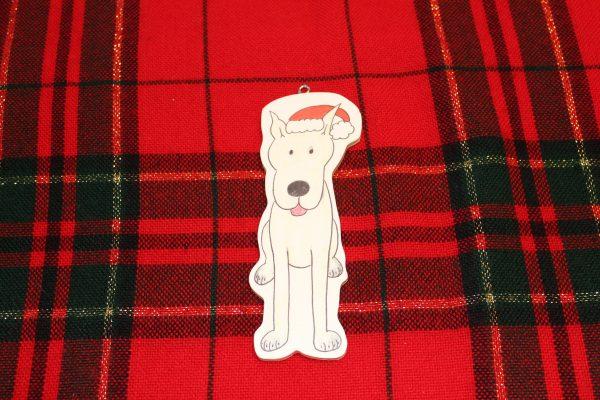 Earl Grey Great Dane Christmas Ornament