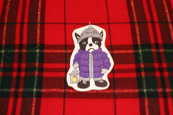 Stella Boston Terrier Christmas Ornament