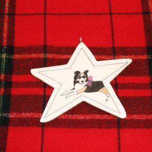 Heidi the Collie Christmas Ornament