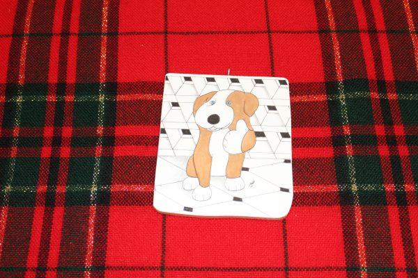 Thumbs Up Dog Christmas Ornament