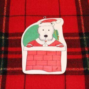 Santa Paws Westie Christmas Ornament