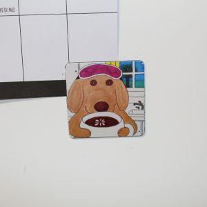 Coffee Dog Magnet
