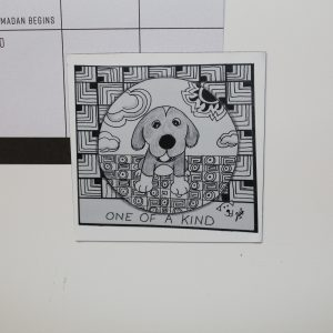 One Of A Kind Dog Art Magnet