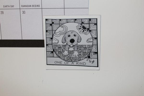 One Of A Kind Dog Art Magnet