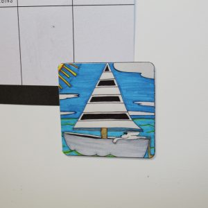 Sailboat Dog Magnet