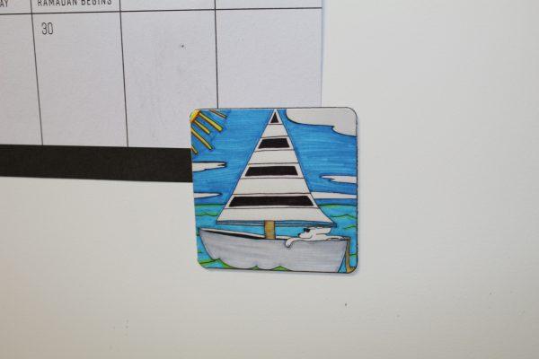 Sailboat Dog Magnet