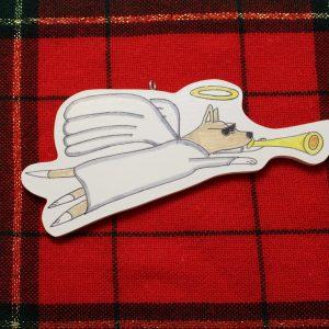 Cali Angel Dog Christmas Ornament