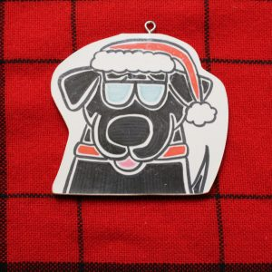 Binky Black Lab Christmas Ornament