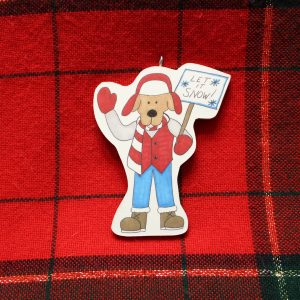Let It Snow Dog Christmas Ornament