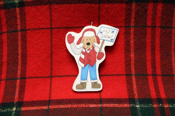 Let It Snow Dog Christmas Ornament