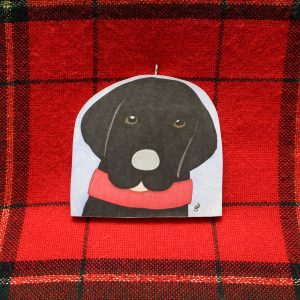 Ziggy the Black Lab Christmas Ornament