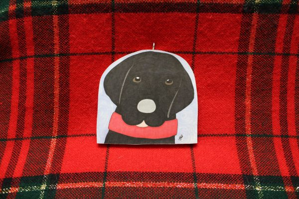 Ziggy the Black Lab Christmas Ornament