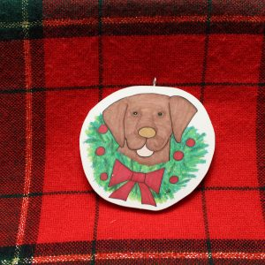 Coco Rico Chocolate Lab Christmas Ornament