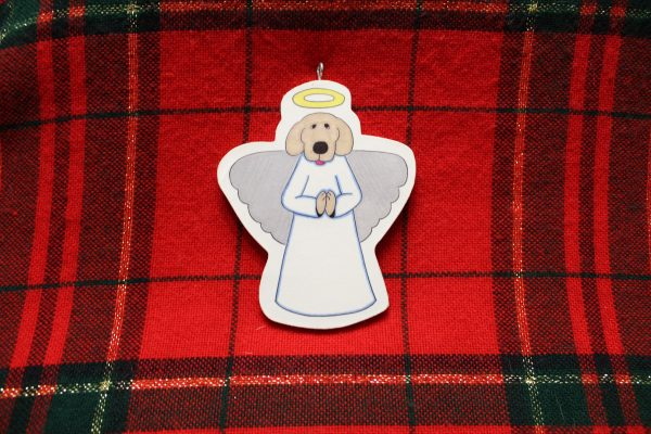 Clarence the Dog Angel Christmas Ornament