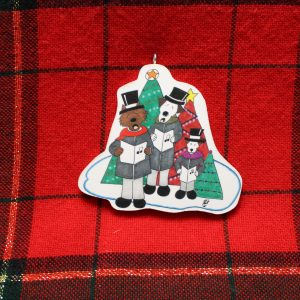 Three Caroling Dogs Christmas Ornament