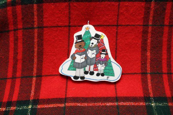 Three Caroling Dogs Christmas Ornament