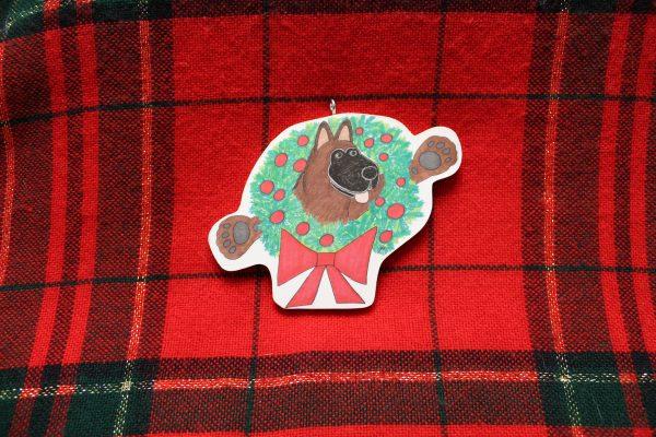 Ta-Da! German Shepherd Christmas Ornament