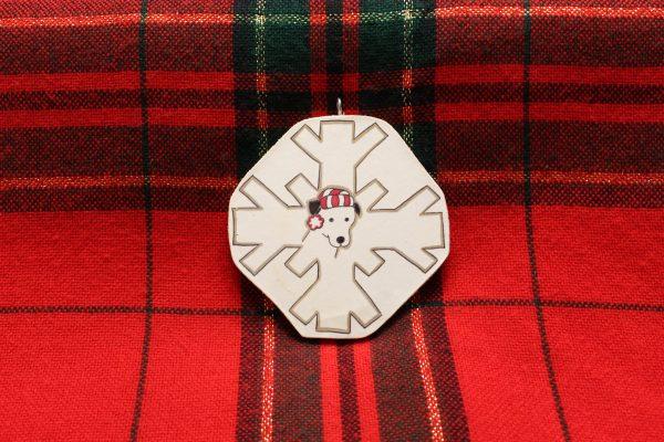 Josie the Chiweenie Snowflake Christmas Ornament
