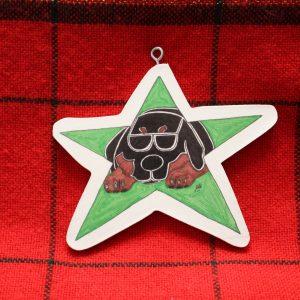Rodney the Rottie Christmas Ornament