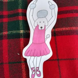 Carmen Ballerina Dog Art Christmas Ornament