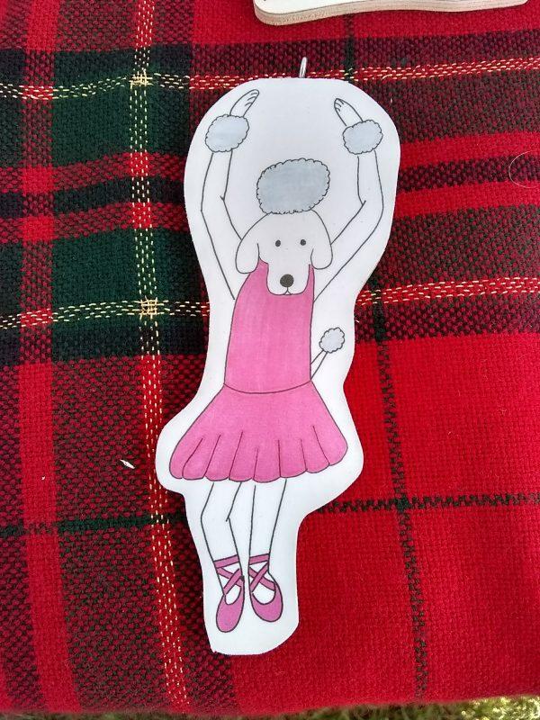 Carmen Ballerina Dog Art Christmas Ornament