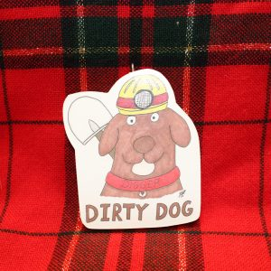 """Digger"" the Dirty Dog Christmas Ornament"
