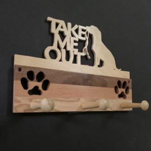 Take Me Out Handmade Leash Rack