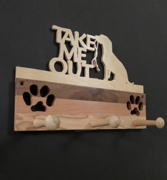 Take Me Out Handmade Leash Rack