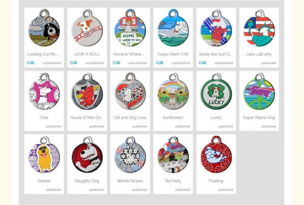 Binky and Bell on Dog Tag Art