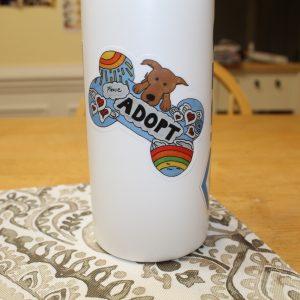 ADOPT Dog Bone Sticker