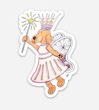 My Fairy Dog Mother Sticker