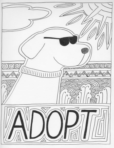 Adopt Coloring Page
