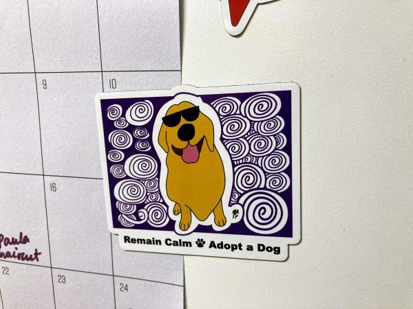 Golden Retriever Dog Art Magnet