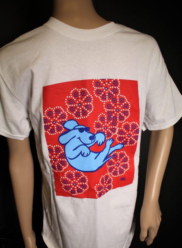 Floating Dog Cotton T-Shirt